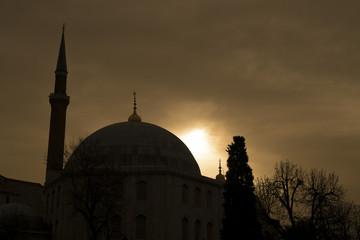 sunrise in sultanahmet mosque