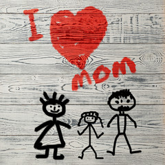 mother's day children's drawing