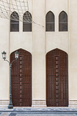 traditional Arab architecture. Street exterior and facades