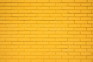 Yellow brick wall texture as background