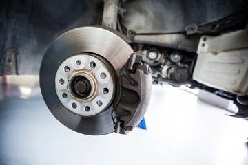 Close-up of car brake
