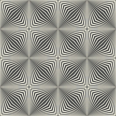 Seamless Crystal Pattern. Vector Black and White Gradient Background