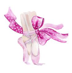 Ballet shoes illustration