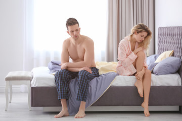 Young couple with relationship problem at home