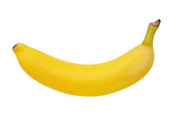 Yellow banana on white