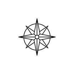 navigation orientation instrument symbol line black vector icon