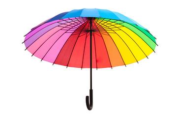 multicolored umbrella isolated on white background