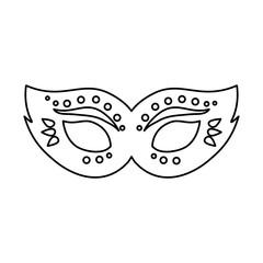 carnival mask icon over white background, vector illustration