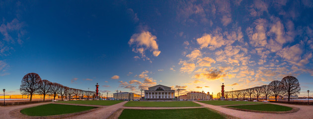 Panorama of St. Petersburg. View of Vasilievsky Island. Architecture of Russia. View of St. Petersburg. Panorama of Russia. Architecture of Petersburg.