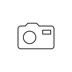 camera icon. Element of simple icon for websites, web design, mobile app, info graphics. Thin line icon for website design and development, app development