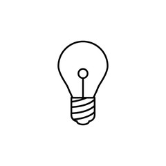 bulb icon. Element of simple icon for websites, web design, mobile app, info graphics. Thin line icon for website design and development, app development