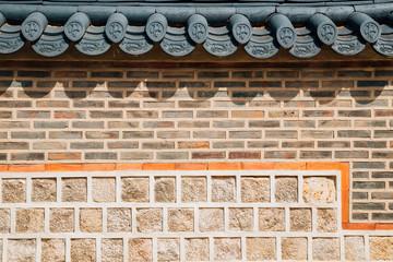 Korean traditional stone wall