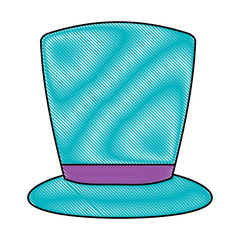 top hat icon over white background, colorful design. vector illustration