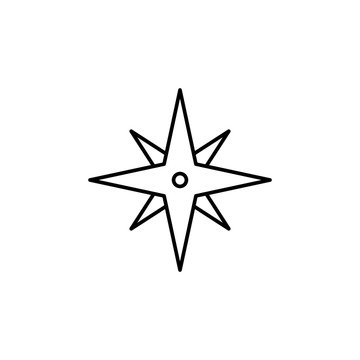 eight-pointed star icon. Element of simple icon for websites, web design, mobile app, info graphics. Thin line icon for website design and development, app development