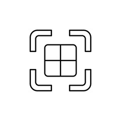 photo perspective icon. Element of simple icon for websites, web design, mobile app, info graphics. Thin line icon for website design and development, app development