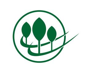 circle plant harvest agriculture farmer image vector logo symbol icon