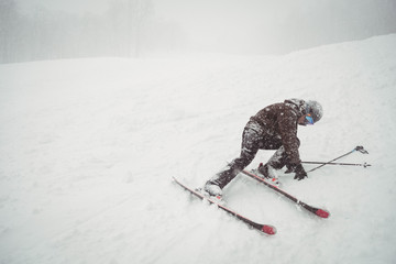 Ski fail of a man