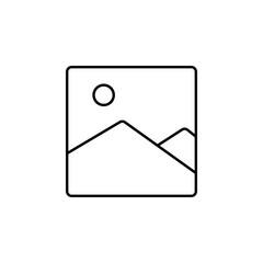 picture landscape icon. Element of simple icon for websites, web design, mobile app, info graphics. Thin line icon for website design and development, app development