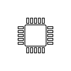 CPU icon. Element of simple icon for websites, web design, mobile app, info graphics. Thin line icon for website design and development, app development
