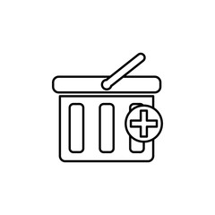 adding a shopping cart icon. Element of simple icon for websites, web design, mobile app, info graphics. Thin line icon for website design and development, app development