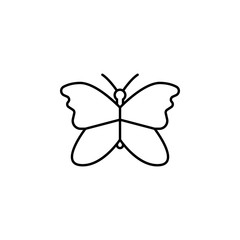 butterfly icon. Element of simple icon for websites, web design, mobile app, info graphics. Thin line icon for website design and development, app development