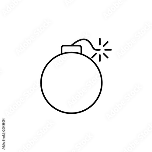 bomb icon  Element of simple icon for websites, web design, mobile