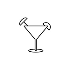 cocktail icon. Element of simple icon for websites, web design, mobile app, info graphics. Thin line icon for website design and development, app development