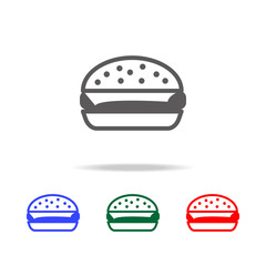 burger simple black eating icon. Elements of food multi colored icons. Premium quality graphic design icon. Simple icon for websites, web design, mobile app, info graphics