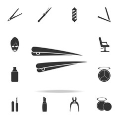 hairpin icon. Detailed set of Beauty salon icons. Premium quality graphic design icon. One of the collection icons for websites, web design, mobile app
