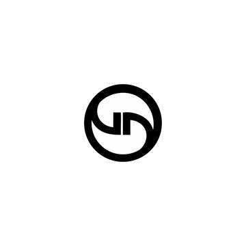 letter gd in a circle logo vector