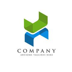H letter trend isometric logo design vector illustration template, creative Letter H  logo design vector