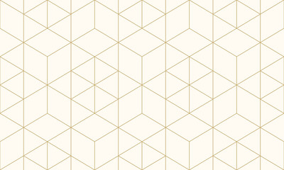 Pattern geometric gold line seamless luxury design abstract background. Wall mural