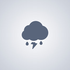 Thunderstorms with rain icon