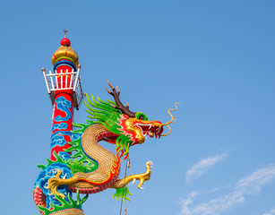 Dragon statue in the Chinese temple