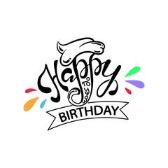 Happy birthday typographic design