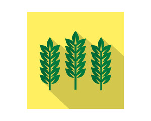 leaf green harvest agriculture farmer image vector logo symbol icon