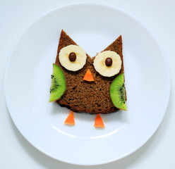 stock-photo-bird-owl-breakfast-or-lunch-fun-food-art-for-kids-on-white-plate-top-view