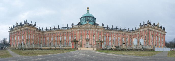 Panoramic view of The New Palace ( Neues Palais) in Potsdam, Germany, Europe.