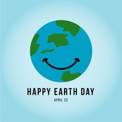 Happy Earth Day Vector Template Design Illustration