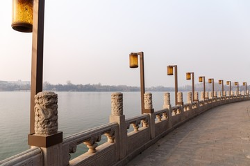 Beijing Beihai Park Lake Promenade