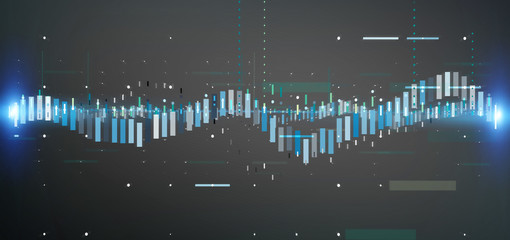 Business stock exchange trading data information isolated on a background