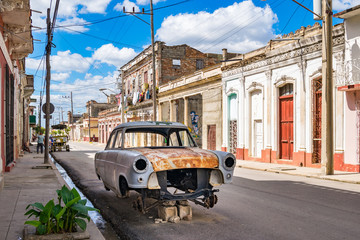 Straßenzeile in Cienfuegos, Kuba