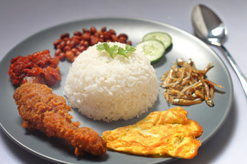Traditional nasi lemak