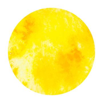 vector watercolor circle yellow