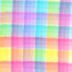 Abstract Tartan Watercolor pattern for cloths.