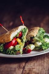 Sandwich Tomate Mozarella CloseUp