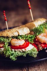 Sandwich Garnele CloseUp
