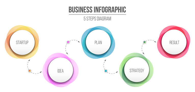 Creative vector illustration of diagram information isolated on background. 4 business step options. Art design information template. Abstract concept graphic element. Workflow layout presentation