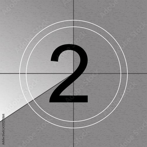 Creative vector illustration of countdown frame  Art design  Old