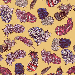 Seamless feather pattern.